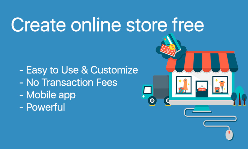 Creat online store, web site and mobile application for free.